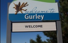 Moree Local Government Gurley town entry sign
