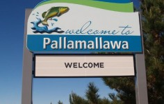 Moree Local Government Pallamallawa town entry sign