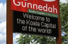 Gunnedah electronic message board sign
