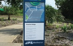 you-are-here map sign for the Mackay Local Govt. Sign system