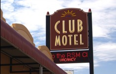 Inverell RSM Club Motel Business Sgin