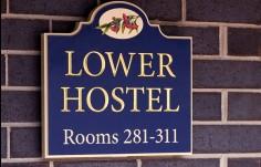 Kirkbrae Lower Hostel directional sign