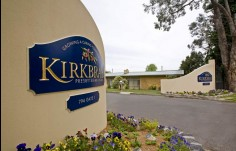 Kirkbrae curved monument entry sign