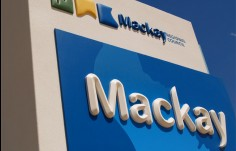 detail of entry monument for Mackay Local Government Sign System