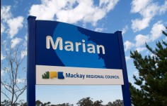 Town entry sign for Mackay Local Government Sign System