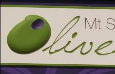 Mt Stirling Olives sign close-up