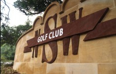 Faux_sandstone_branding_statement_for_the_NSW_golf_club