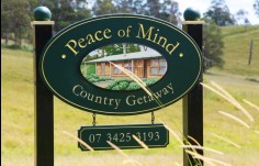 Peace Of Mind Property Sign