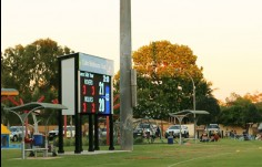 LED-scoreboard-with-all-weather-service-platform-and-roller-shutter