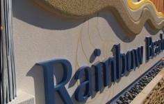 Rainbow Beach Monument Sign Detail
