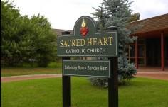 Sacred Heart Church Sign
