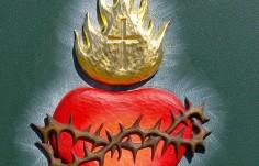 Sacred Heart Church Sign Detail