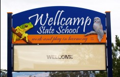 Wellcamp State School sign