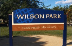 Wilson Park Entry Sign